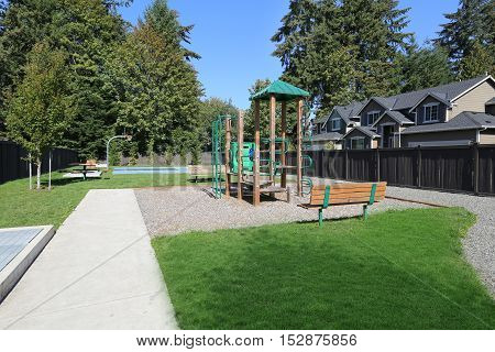 New Playground In Modern Residential Area