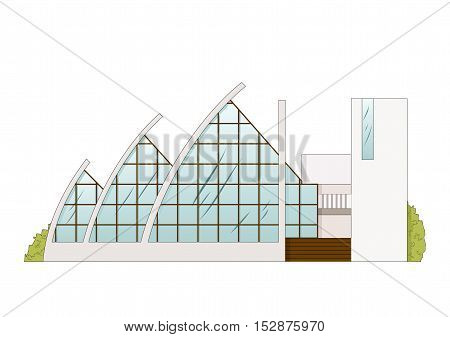 Vector Architecture Building Project. Amphitheater, Opera, Balet Theater, Art Gallery, Gallery of Modern Art