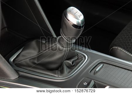 detail in the interior of the modern car
