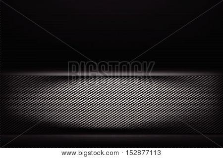 Abstract background dark and black carbon fiber vector illustration eps10