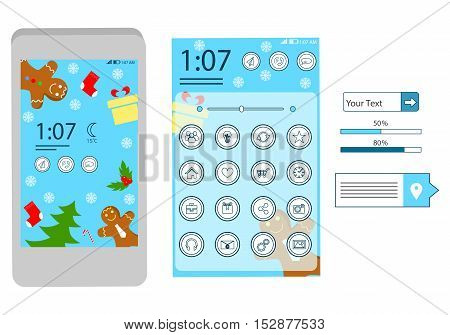 illustration on the theme of information technology - the design theme for your smartphone.