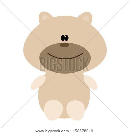 Bear toy. Flat vector illustration on a white background.