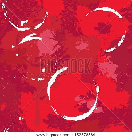 Abstract Seamless pattern with red wine stains splashes and blots. Handdrawn background. Design for restaurant bar cafe menu or label.