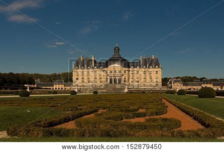 The Vaux-le-Vicomte is a Baroque French castle constructed from 1658 to 1661 for Nicolas Fouquet the superintendant of Finances of Louis XIV.