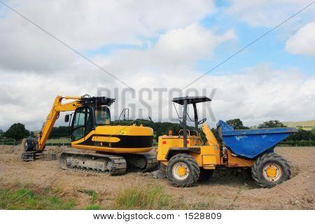 Digger And Dumper Truck