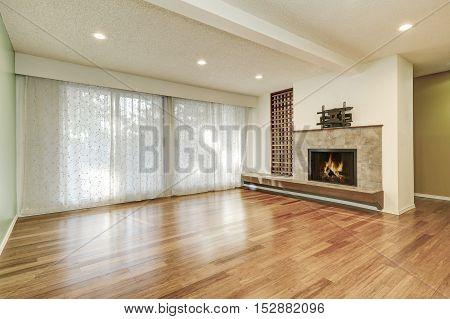 Apartment Empty Living Room Interior