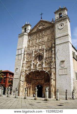 Church of San Pablo XV-XVII centuries in Valladolid Castilla y Leon Spain