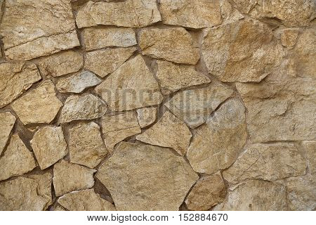 Texture of wall built of large stones