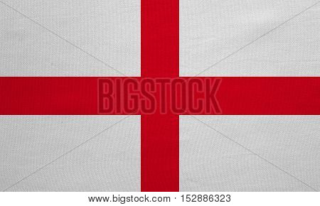 English national official flag. Patriotic symbol banner element background. Correct colors. Flag of England with real detailed fabric texture accurate size illustration