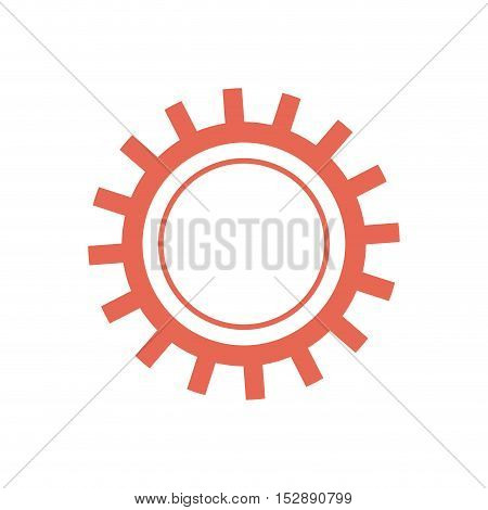 gear or cogwheel mechanic device equipment vector illustration
