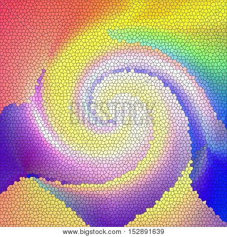 Abstract coloring background of the pastels gradient with visual lighting,stained glass and twirl effects
