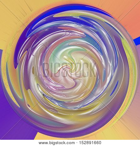 Abstract coloring background of the pastels gradient with visual lighting,wave,shear,poolar coordinates and plastic wrap effects