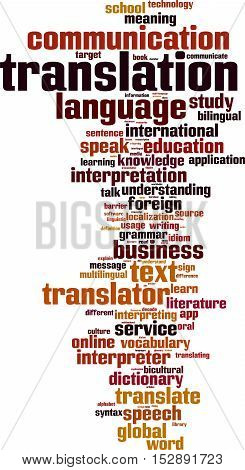 Translation word cloud concept. Vector illustration on white