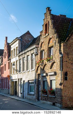 A Typical Belgium House In Brugge