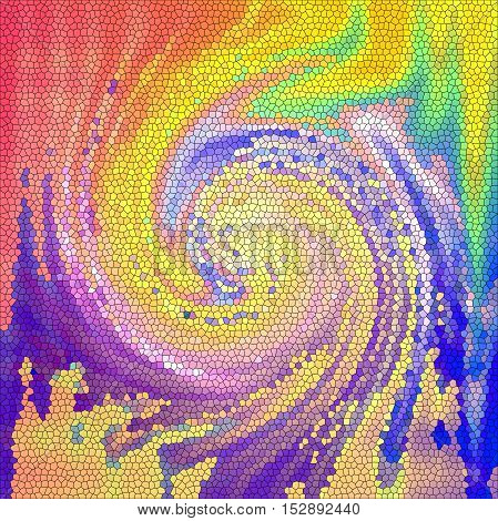 Abstract coloring background of the pastels gradient with visual lighting,wave,stained glass and twirl effects