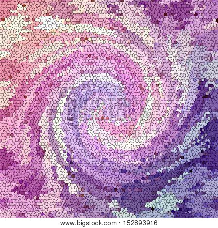 Abstract coloring background of the abstract gradient with visual mosaic, illusion,wave,stained glass and twirl effects