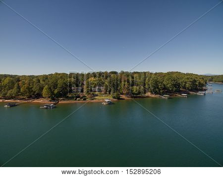 Aerial picture of Lake House in South Carolina
