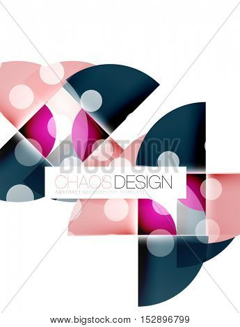 Round shape elements composition. Abstract background