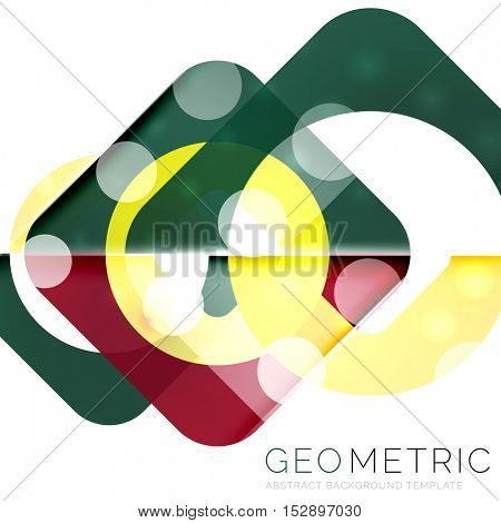 Modern abstract round shapes repititon background