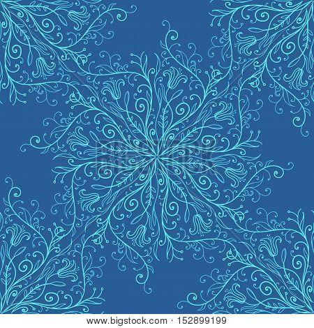Vector illustration of calligraphy penmanship decorative seamless background