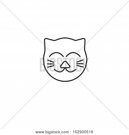 cat vector outline icon on white background