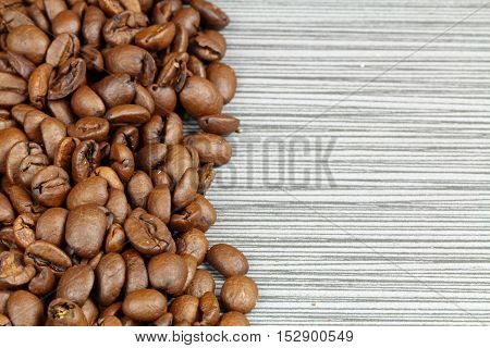 A background with coffee beans as a border