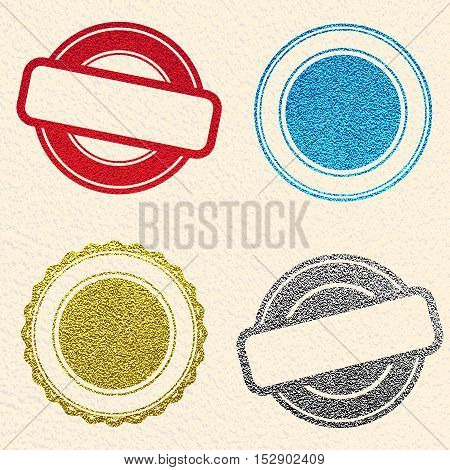 Vintage postal stamps and postmarks. Vector illusttration. Set of stamps for mail post.