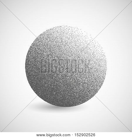 Halftone Circle Vector Logo Symbol, Icon, Design. Abstract Dotted Globe Illustration Isolated On Whi