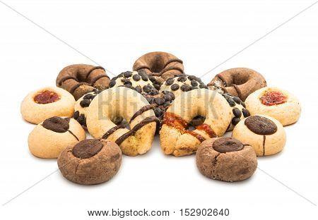 Biscuit turkish dessert isolated on white background