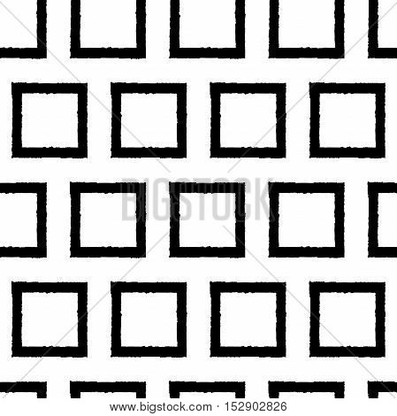 Square. Black square. Seamless vector pattern (background).