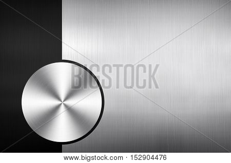 polished metal with knob design background