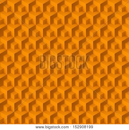 Abstract geometric background with cubes in yellow