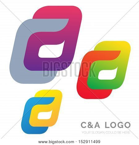 Creative C and A letter vector logo design. Vector sign. Character logotype symbols. Logo icon design