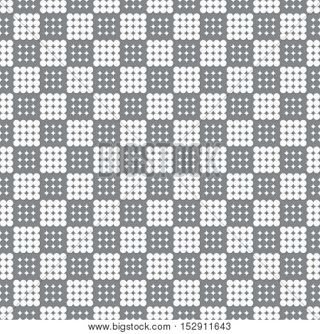Checkered seamless pattern. Classic abstract geometric background. Infinitely repeating geometrical texture consisting of small rhombuses dots. Vector element of graphical design