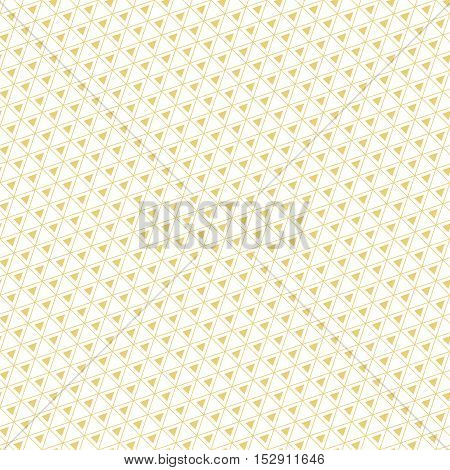 Vector seamless pattern. Modern simple texture. Repeating diagonal grids with small triangles. Graphic design element