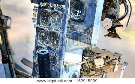 Old Cockpit Of Plane At War Museum