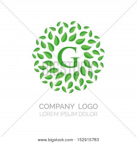Green Leaves vector logo design. Vector sign. Logo icon design