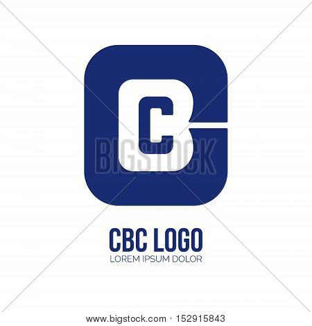 Creative C and B letter vector logo design. Vector sign. Character logotype symbols. Logo icon design for website
