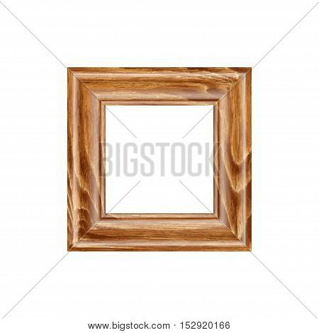 Square frame made of expensive wood. machined baguette. isolate on a blank background, easy to cut to your design. full vector, scale any size