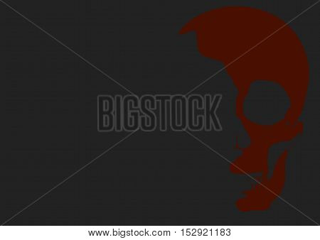 Obscure Halloween Skull Vector Illustration