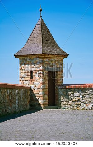Lookout Tower of an Old Castle in Bratislava Slovakia