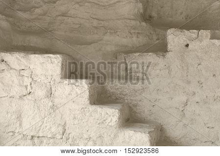 Image of an Old Stairs in the Cave