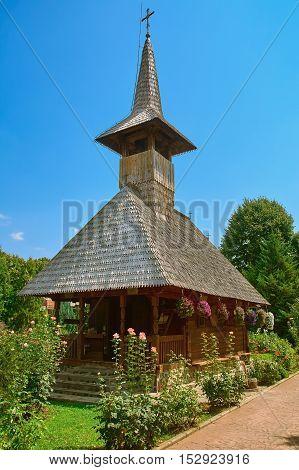 Wooden Church in the Monastery of Giurgiu city Romania