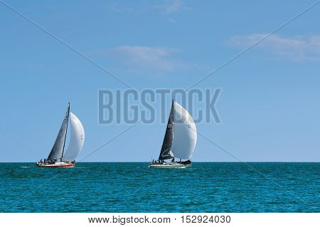 VARNA BULGARIA - September 30 2016: Yaht Regatta Pro-Am Race along the Bulgarian Black Sea Coast