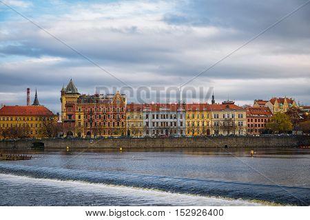 Scenic view of Prague morning in Czech Republic