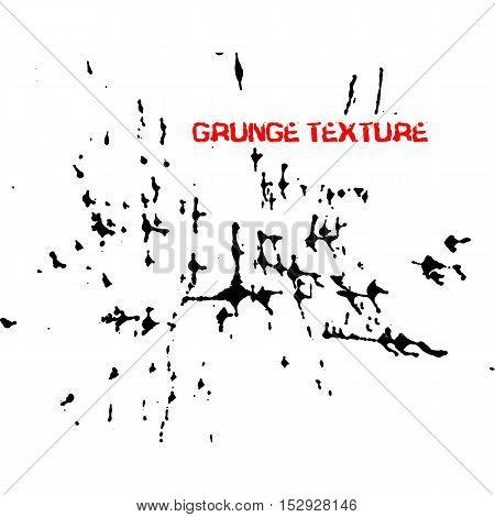 Black ink vector brush strokes. Vector illustration. Grunge texture