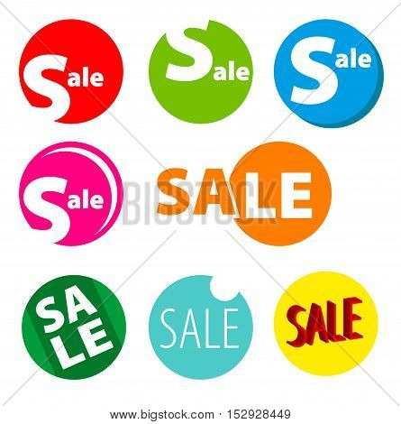 Sale vector banner. Promo offer. Sale stickers.