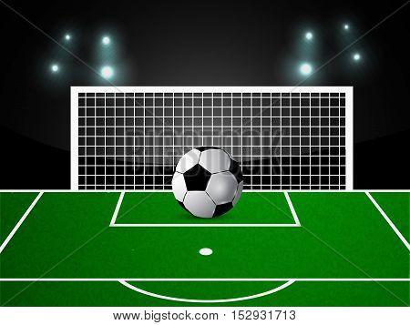 Illustration of Football stadium with Soccer ball