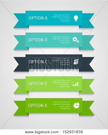 Modern infographic lines set. Template for presentation, chart, graph. Vector illustration