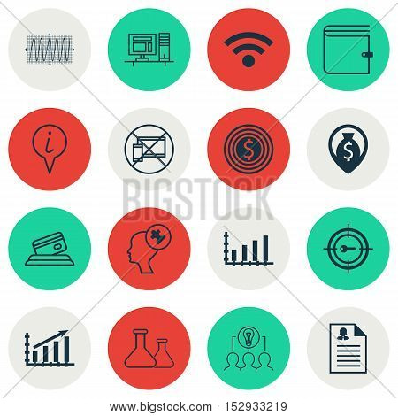 Set Of 16 Universal Editable Icons For Transportation, Education And Project Management Topics. Incl